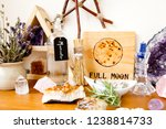 full moon altar setup for... | Shutterstock . vector #1238814733