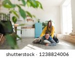 young  lovers boyfriend and... | Shutterstock . vector #1238824006