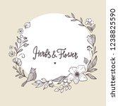 decorative floral frame  sketch ... | Shutterstock .eps vector #1238825590