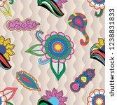 abstract seamless vector... | Shutterstock .eps vector #1238831833