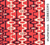 seamless abstract mid century... | Shutterstock .eps vector #1238833393