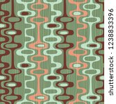 seamless abstract mid century... | Shutterstock .eps vector #1238833396