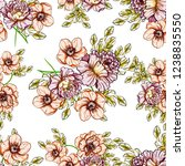 abstract seamless pattern with... | Shutterstock .eps vector #1238835550