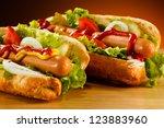 hot dog | Shutterstock . vector #123883960