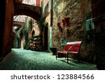 old town alley in tuscany italy | Shutterstock . vector #123884566