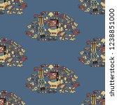 seamless geometrical ornate... | Shutterstock .eps vector #1238851000