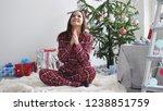 young beautiful brunette in...   Shutterstock . vector #1238851759