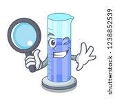 detective graduated cylinder... | Shutterstock .eps vector #1238852539