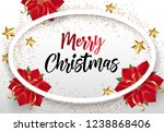 merry christmas lettering in... | Shutterstock .eps vector #1238868406