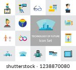 technology of future icon set.... | Shutterstock .eps vector #1238870080