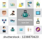 programming icon set. robot... | Shutterstock .eps vector #1238870623