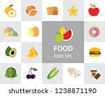 food icon set. broccoli  fruit  ... | Shutterstock .eps vector #1238871190