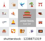 japan travel icon set. fuji... | Shutterstock .eps vector #1238871319