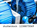 macro shot of a circuitboard...   Shutterstock . vector #1238875069