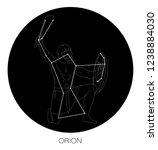 orion constellation vector | Shutterstock .eps vector #1238884030