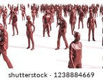 3d large group of people on... | Shutterstock . vector #1238884669