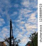 view of autumn evening sky.   Shutterstock . vector #1238888923