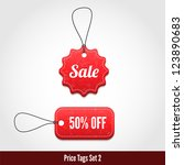 3d price tags set 2. | Shutterstock .eps vector #123890683