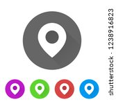map point   app icon   Shutterstock .eps vector #1238916823