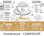 restaurant cafe menu  template... | Shutterstock . vector #1238920159