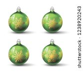 green colored christmas balls... | Shutterstock .eps vector #1238920243