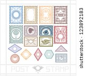 post stamp with pattern and... | Shutterstock .eps vector #123892183