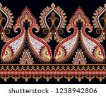 seamless bright wide border... | Shutterstock .eps vector #1238942806