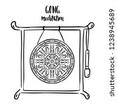 gong meditation stand with...   Shutterstock .eps vector #1238945689