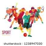 color sport background.... | Shutterstock .eps vector #1238947030