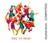 color sport background.... | Shutterstock .eps vector #1238947033