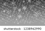 snowfall on transparent... | Shutterstock .eps vector #1238962990