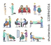 people came to the beauty salon ... | Shutterstock .eps vector #1238964316