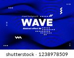 blue abstract poster with... | Shutterstock .eps vector #1238978509