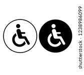 disabled handicap icon. vector...   Shutterstock .eps vector #1238986099