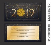 happy new year 2019 party card. ... | Shutterstock .eps vector #1238986780