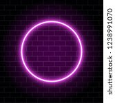 neon circle lamp isolated on... | Shutterstock .eps vector #1238991070
