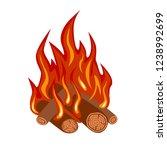 bonfire isolated on white... | Shutterstock .eps vector #1238992699