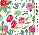 seamless pattern with... | Shutterstock . vector #1238993020