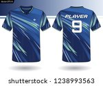 sports jersey template for team ... | Shutterstock .eps vector #1238993563