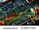 electronic circuit board close... | Shutterstock . vector #1238997283