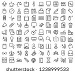 set of office line icons   Shutterstock .eps vector #1238999533