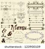 vector set of calligraphic...   Shutterstock .eps vector #123900109