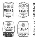 alcoholic drinks vintage labels ... | Shutterstock .eps vector #1239001630