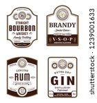 alcoholic drinks vintage labels ... | Shutterstock .eps vector #1239001633