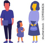 flat illustration family vector.... | Shutterstock .eps vector #1239006826