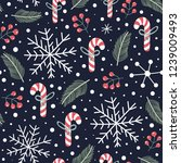 holiday seamless pattern with...   Shutterstock .eps vector #1239009493