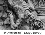 sculpture of dead on plague... | Shutterstock . vector #1239010990