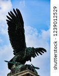 eagle statue in buda palace... | Shutterstock . vector #1239012529