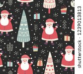 winter seamless pattern with a...   Shutterstock .eps vector #1239013813