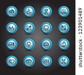 medical icons set  internet... | Shutterstock .eps vector #123901489